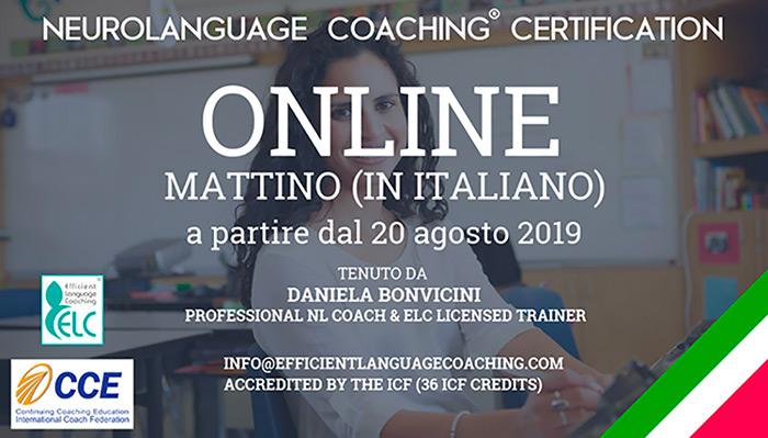 Corso Neurolanguage Coaching® Certification   DANIELA BONVICINI