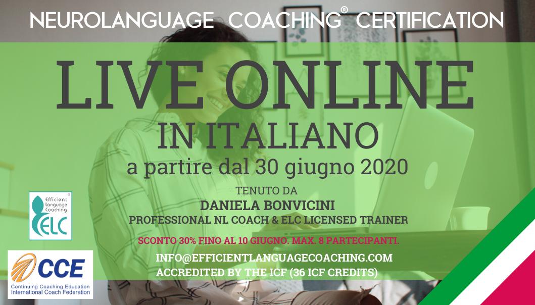 Corso per Certificazione in NEUROLANGUAGE Coaching® (per insegnanti di Lingue o Italiano per stranieri)